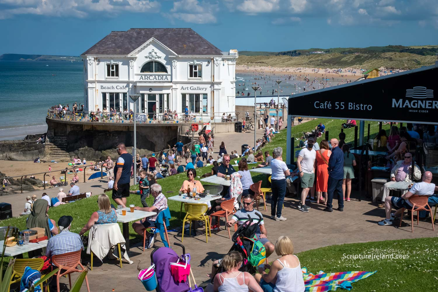 Some will remember the days when The Arcadia was a popular Ballroom. Nowadays it's a popular beach cafe.
