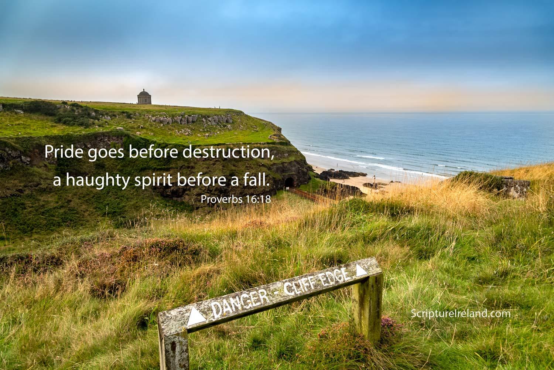 Castlerock clifftop looking towards Mussenden Temple, County Antrim